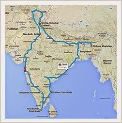 The-Bharathon-route