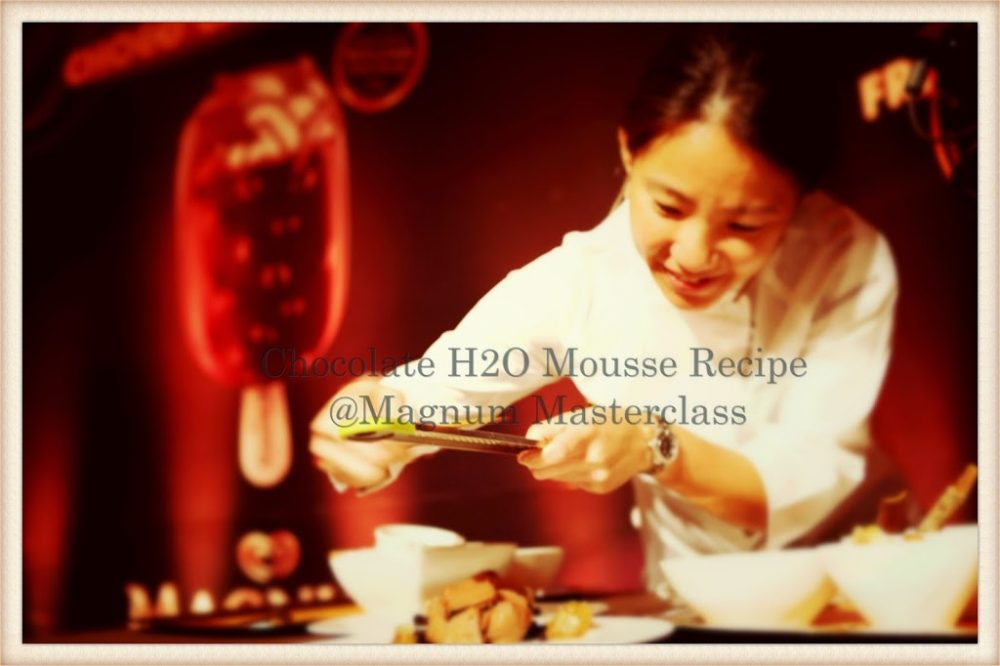 Get the Chocolate H2O Mousse Recipe By  Chef Janice Wong @Magnum Masterclass
