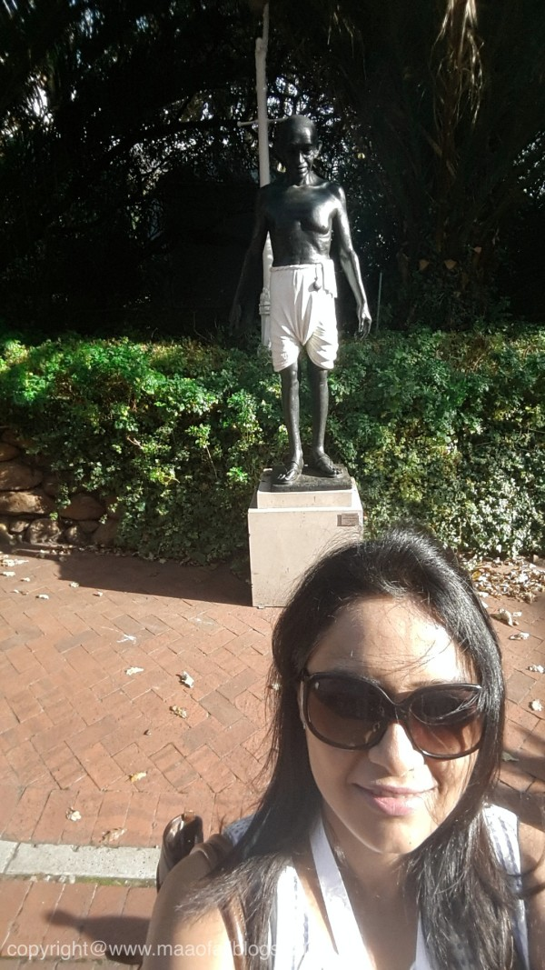 Got excited to see Gandhiji's statue at Mount Nelson Hotel