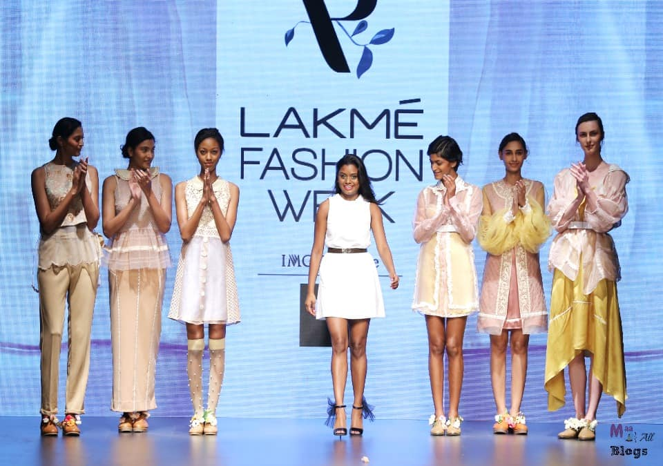 Archana Rao with models for her show on Day 1 at LFW SR 2016