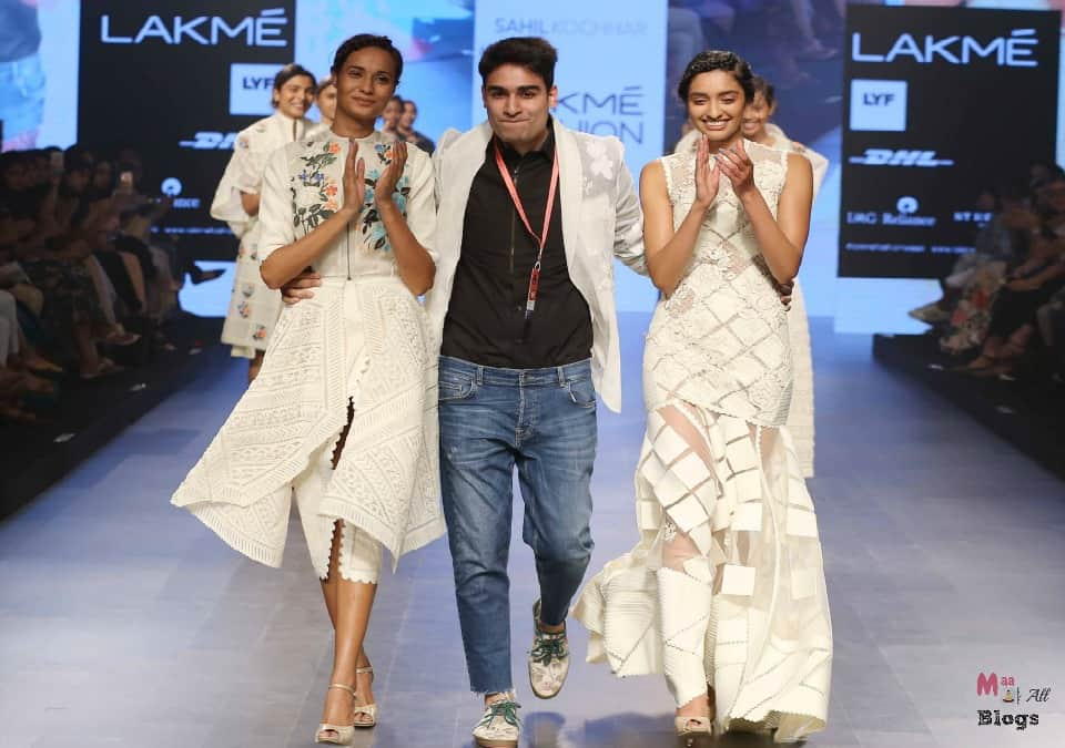 Sahil Kochhar with models on Day 1 at LFW SR 2016