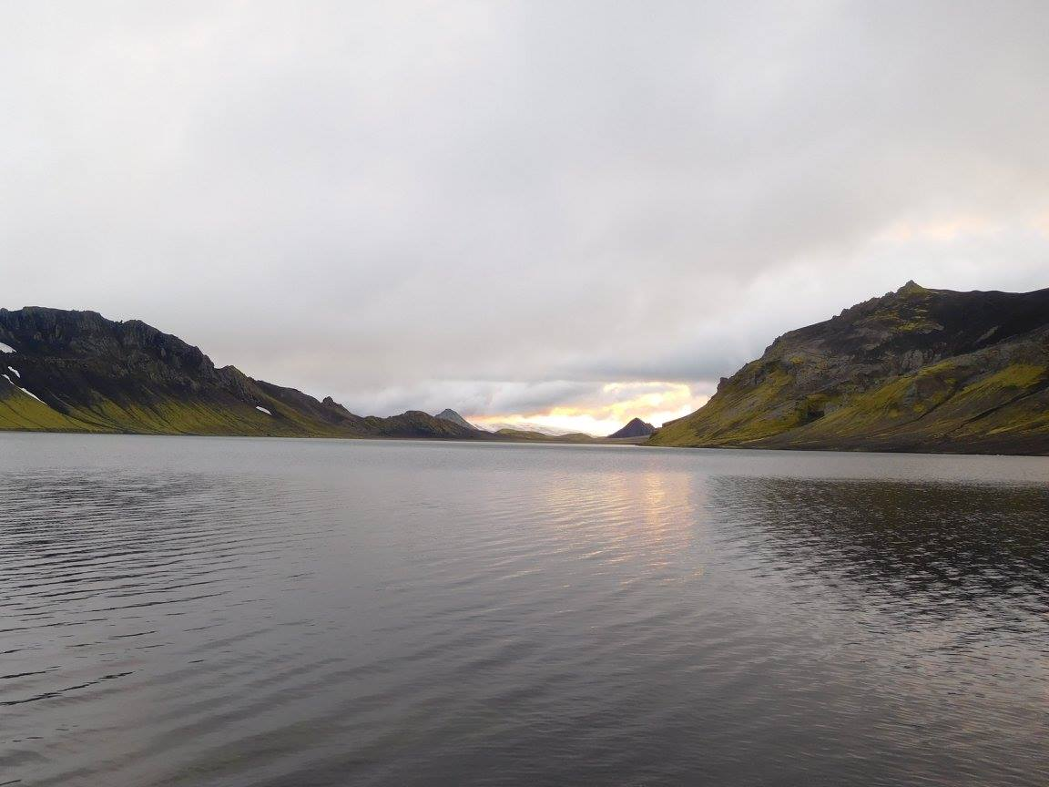 Lake near the Aflavatn Camping grounds - Iceland Hiking