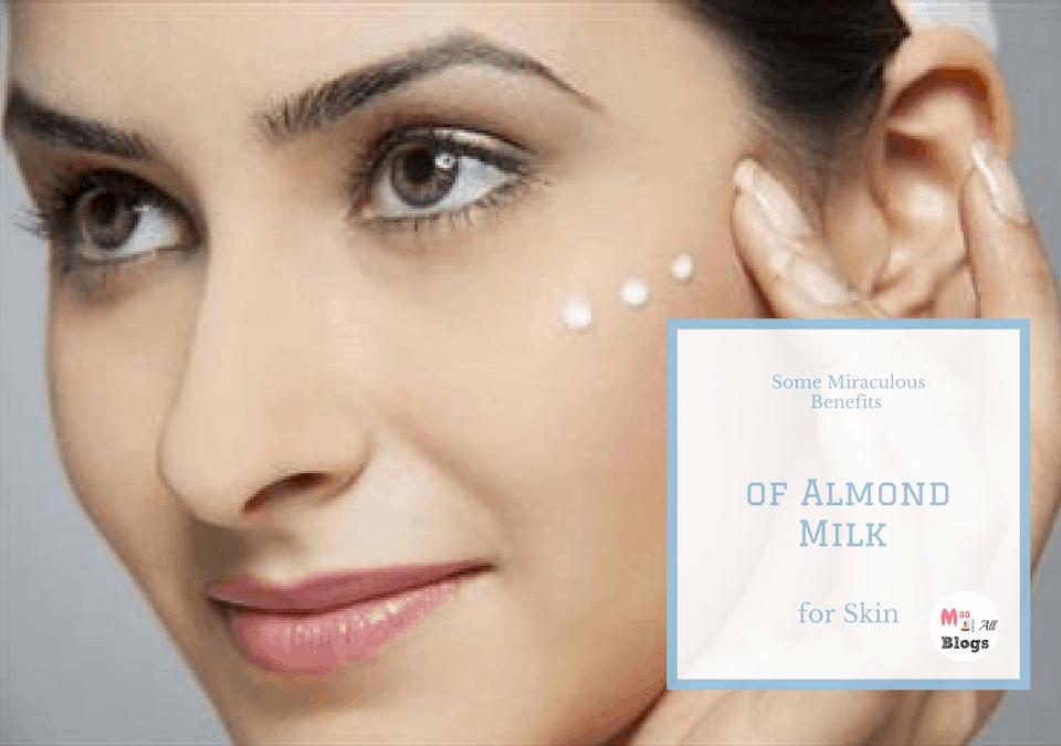 Almond milk for skin