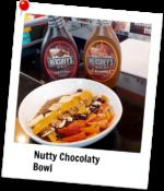 Nutty Chocolaty Bowl With Hershey's Sauce