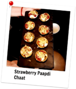 STRAWBERRY PAPDI CHAAT With Hershey's
