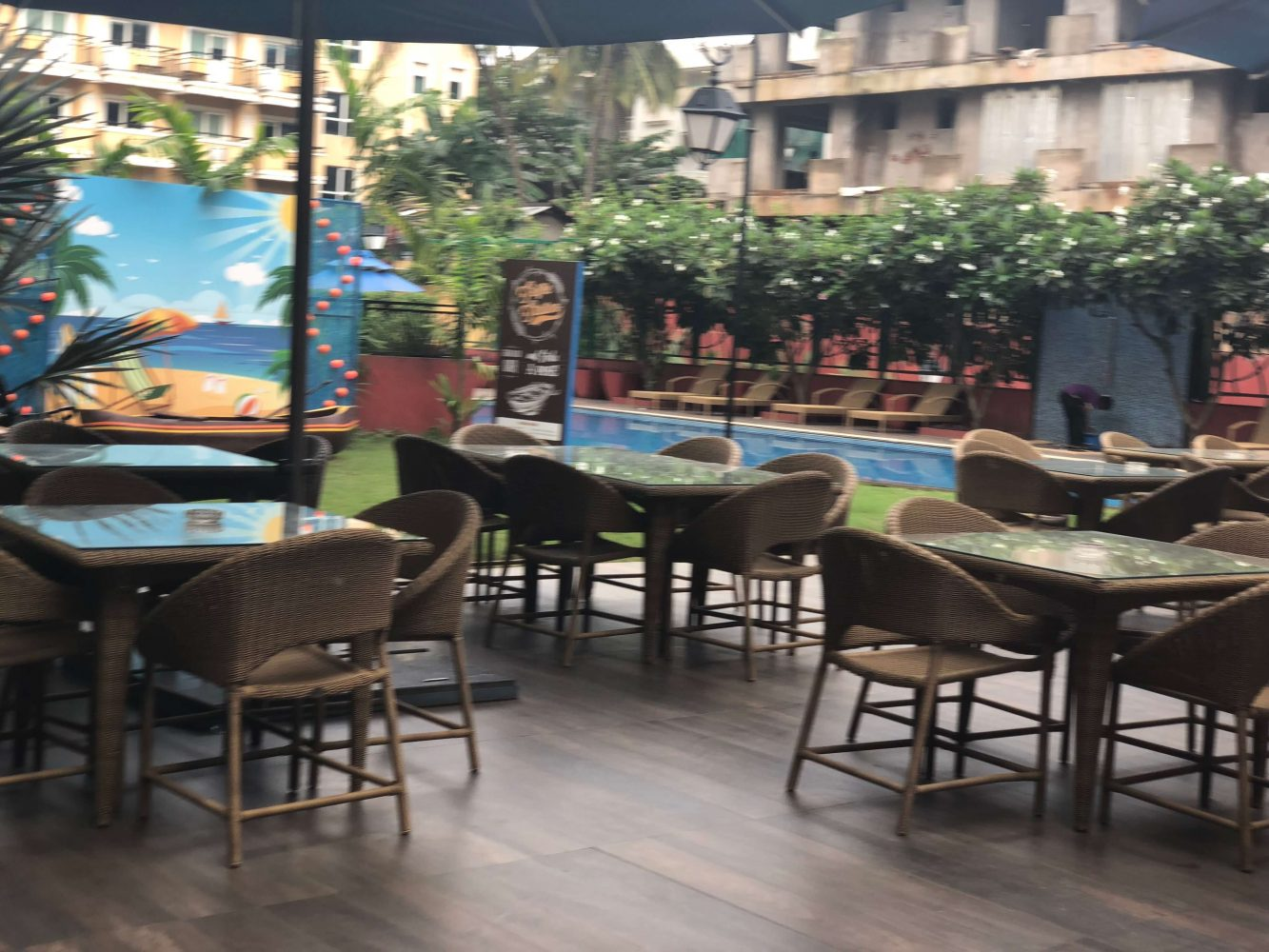 Poolside bar at Ibis Styles Goa Calangute