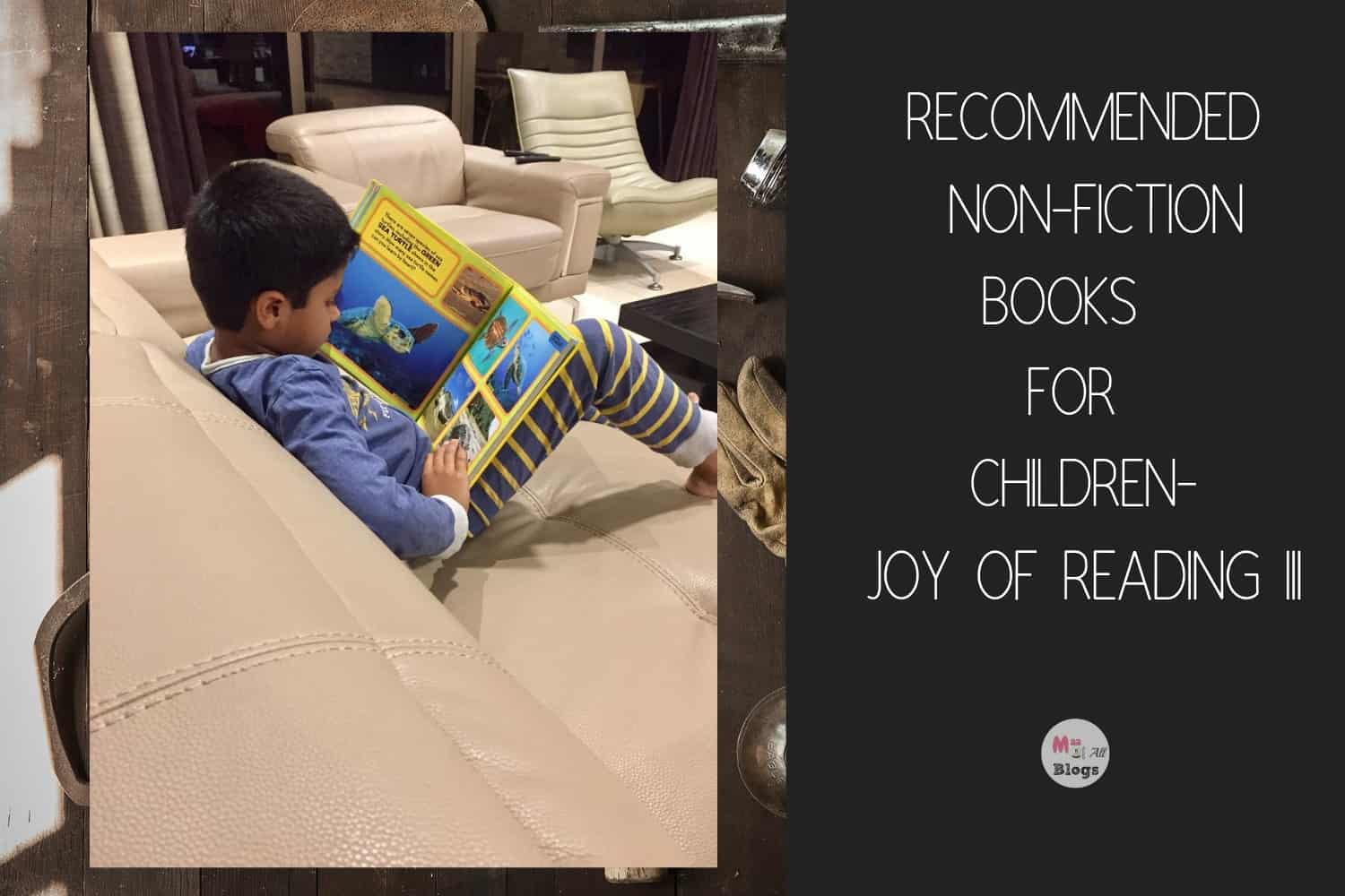 Recommended Non-Fiction Books for Children