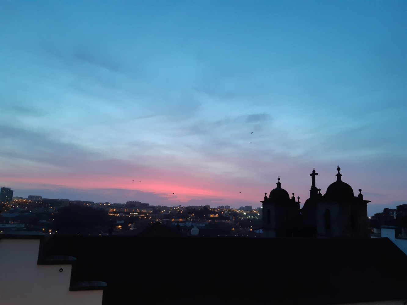 Beautiful sunset in Porto