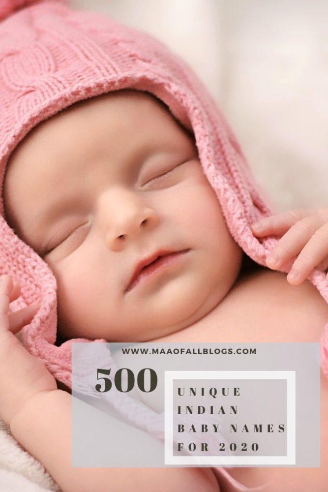 500 unique names for Indian Babies 2020