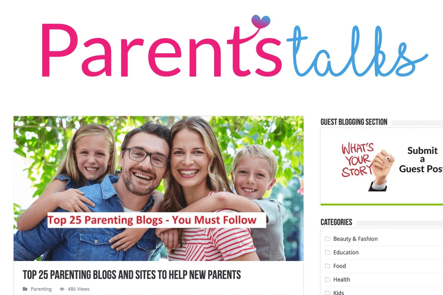 Top 25 parenting blogs in India