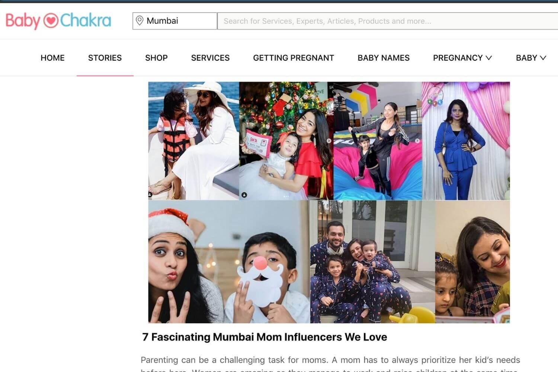 Baby Chakra Mumbai Mom Influencer