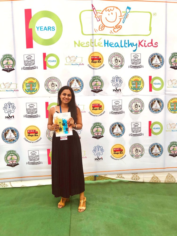 Me at Ludhiana to celebrate 10 years of Nestle Kids Campaign