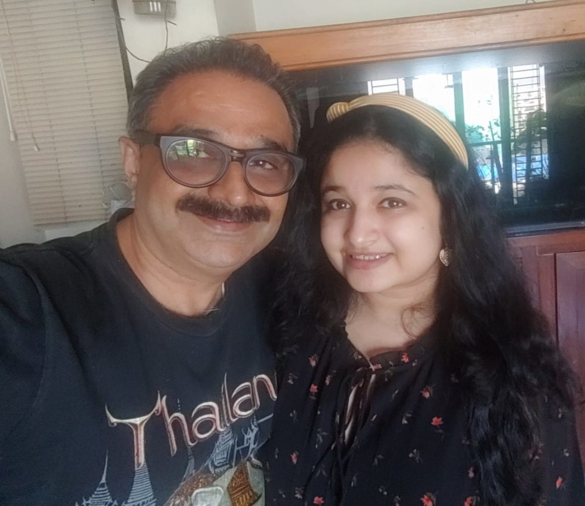 Hrrishu and her Dad