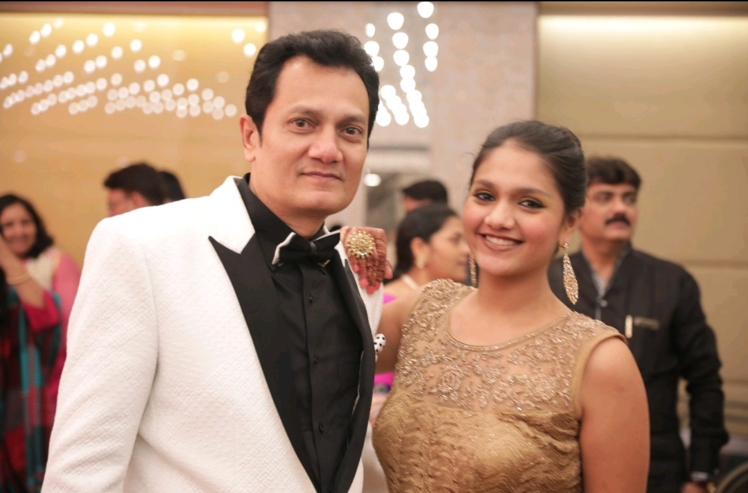 Shivani with her Dad